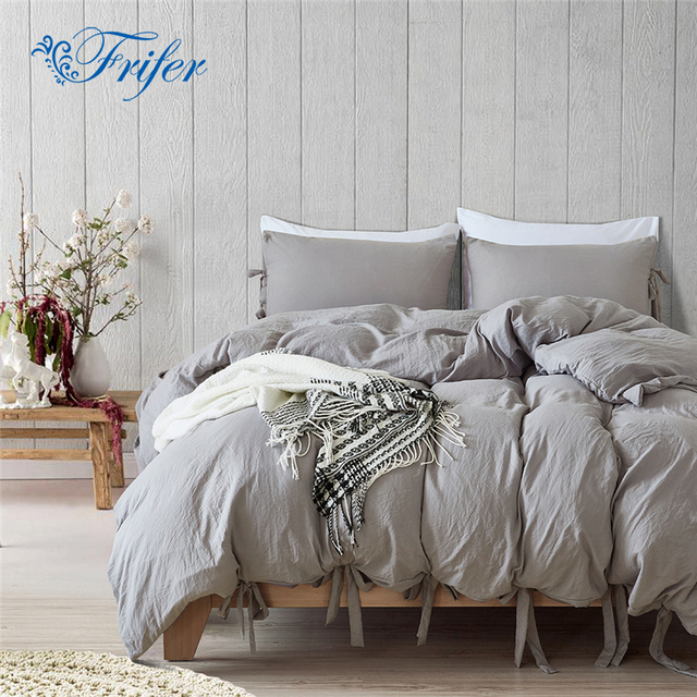 Simple Style Bedding Sets Bedroom Knot Bed Set Bedclothes Duvet Cover Sheet Bedspread Comforter Pillowcase Twin/Queen/King Size