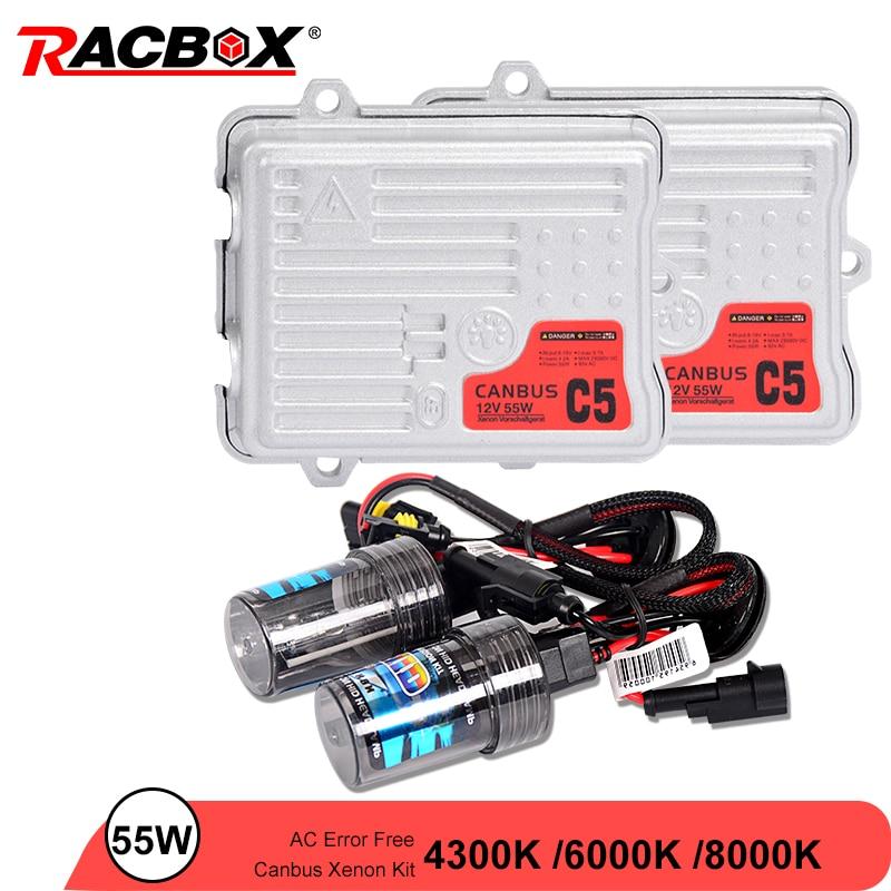55 W AC Canbus Ballast HID ampoule voiture xénon phare Kit de Conversion H1 H3 H7 H11 9005 HB3 9006 HB4 6000 K 4300 K 8000 K