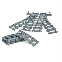 10-100 Pcs/Lot City Trains Train Track Rail Straight & Curved Rails Building Blocks Set Bricks Model Kids Toys Compatible Legoe(China)