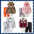 Retail christmas boys girls clothes set bebes cotton hooded cardigan+trousers+body newborn clothing kids baby clothes