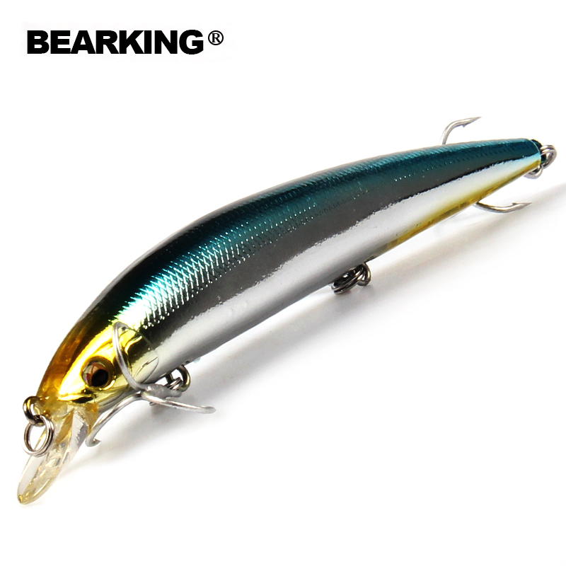 Bearing 1PCS Minnow Fishing Lure Laser Hard Bait Buatan 3D Mata 12.9cm 14.8g Memancing Wobblers Crankbait Minnows