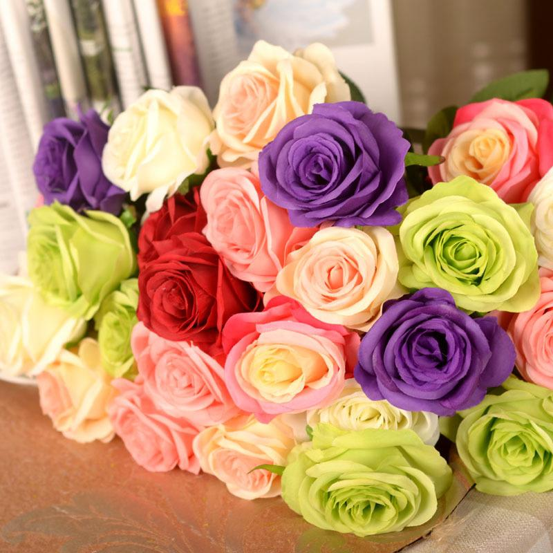 Artificial rose silk craft flowers real touch flowers for wedding artificial rose silk craft flowers real touch flowers for wedding christmas room decoration mightylinksfo