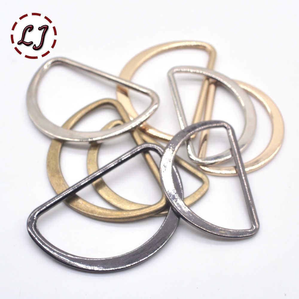 20 قطعة/الوحدة 15 مللي متر/20 مللي متر/25 مللي متر/30 مللي متر/40 مللي متر الفضة الأسود البرونزية الذهب نوع D حلقة اتصال سبيكة الأحذية المعدنية أكياس Buckles Accessory بها بنفسك الإكسسوارات