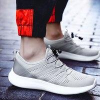 2019 Men Shoes Summer Mesh Breathable shoe Walking Footwear Lightweight Comfortable Man Sneakers very light running