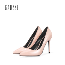 GAOZZE Genuine leather high heel pumps for women 2017 autumn pointed toe shoes 10CM sexy high-heeled shoes wedding shoes women