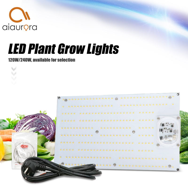 Full spectrum 120W240W AC220V Driverless led grow light quantum <font><b>board</b></font> 288Pcs 3000K <font><b>LM301B</b></font> <font><b>samsung</b></font> Chip 660nm Red Veg/Bloom state image