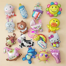 hot balloon air inflatable toys animals baloon balon baby kids children birthday party decoration supplies mini foil balloon(China)