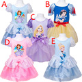 Retail girls cartoon dress 2015 New fashion summer Snow White party dresses Children casual clothing girl sofia princess dress
