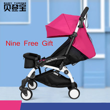 Factory Direct Sale Baby Throne Stroller 175 Degree Fat Baby Stroller Light Weight Pram Travel Foldable Pushchair