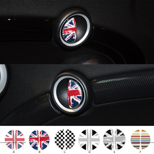 Mini car sticker Door handle British flag pattern Black and white grid stickers Car decoration