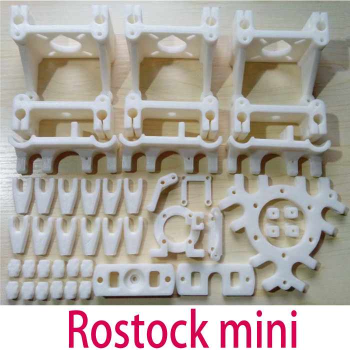 Reprap Delta Rostock Mini 3d printer accessories PLA plastic Parts Printed PLA plastic Fully Kit Free shipping colorful reprap i3 rework 3d printer pla required pla plastic parts set printed parts kit mendel i3 free shipping