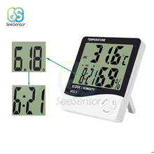 Digital Thermometer Hygrometer Electronic LCD Temperature Humidity Meter Weather Station Indoor Room Alarm Clock HTC-1 uni t a12t digital lcd thermometer hygrometer temperature humidity meter alarm clock weather station indoor outdoor instrument