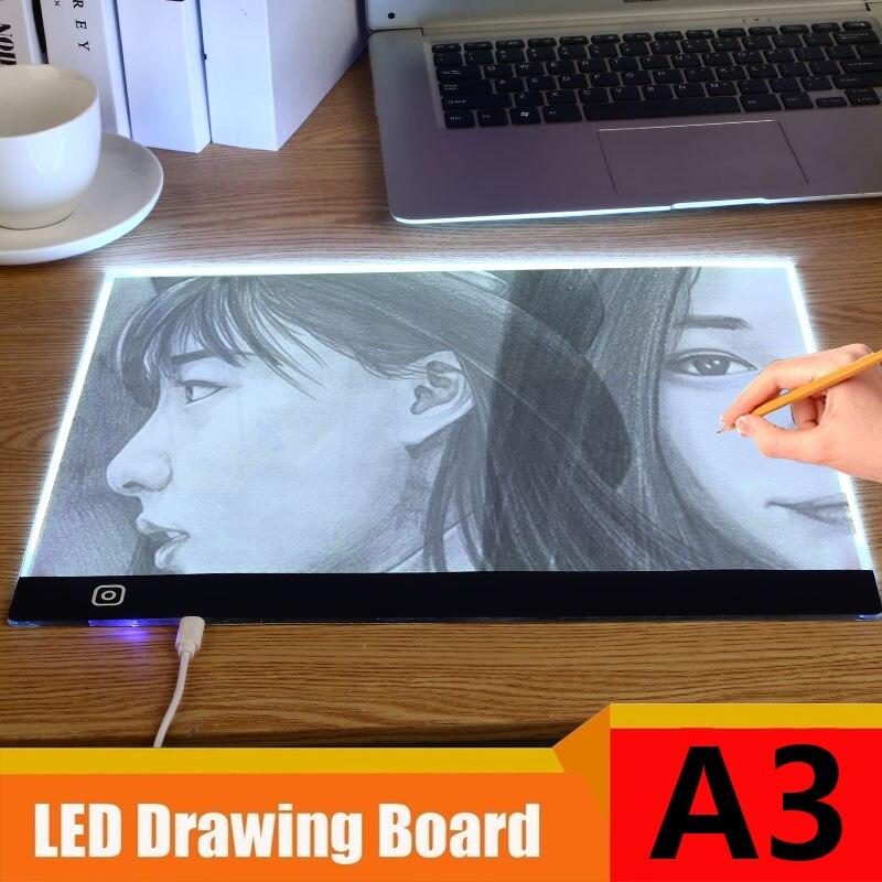 LED A3 A4 A5 USB Digital Tablet Art Portable Graphics Tablet Writing Drawing Board Ultra-thin Tracing Board Light Box Copy Pad