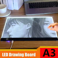 New A3 A4 A5 Digital Tablet Portable LED Graphics Tablet Drawing Board Touch Three-level Dimming Ultra-thin LED Copy Board