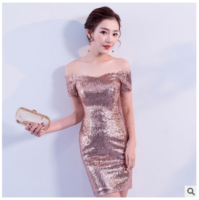 Free Shipping 2018 Hot Sequin Dinner Plus Size New Style Formal Ball