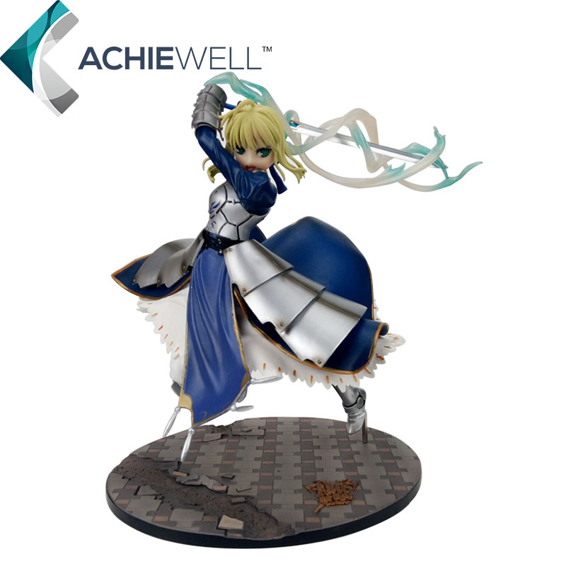 Fate Stay Night Saber Model Sword of Victory Action Figure 3D PVC Anime Toy Gift Collection