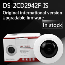 In stock English version DS-2CD2942F-IS 4MP Compact Fisheye Network ip security Camera Support 128G on-board storage