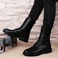 Плюс Размер Мужские Боевые Сапоги Зимние Кожаные Теплые Плюшевые Снегоступы мужской Зашнуровать Черные Армейские Ботинки Для Продажи Теплые Ботинки Для мужчины
