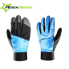 ROCKBROS New Design Full Finger Winter Thermal Cycling Gloves Touch Screen Windproof Cover MTB Bicycle Waterproof Long Gloves