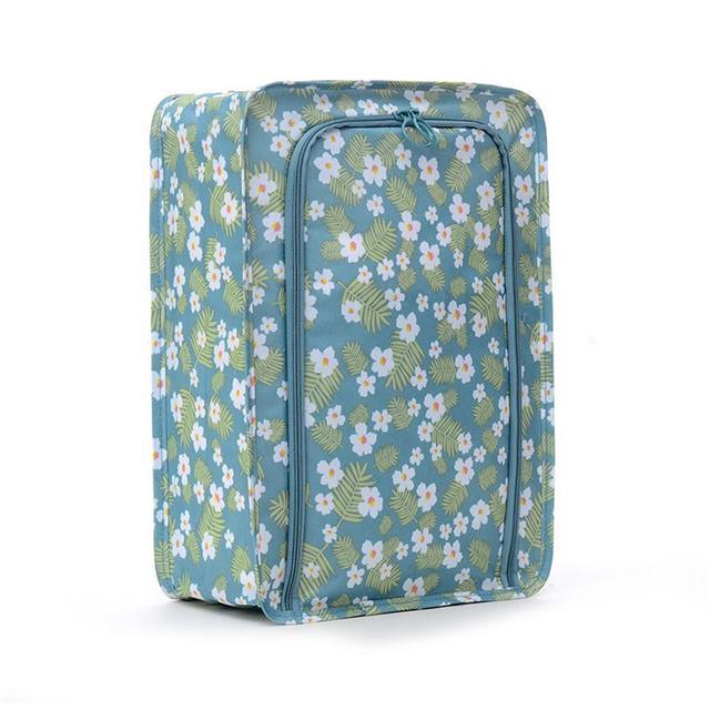 Saco de armazenamento sapatos de viagem portátil saco de armazenamento de roupas de grande capacidade com alça dobrável bagagem de viagem organizador da sapata