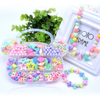DIY Toys For Girl Children String Beads Make Up Puzzle Toys Jewelry Necklace Bracelet Building Kit