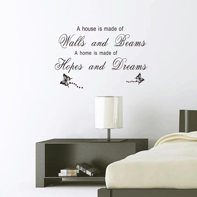 A Home Is Made Of Hopes And Dreams Quotes Wall Stickers For Living Room Art