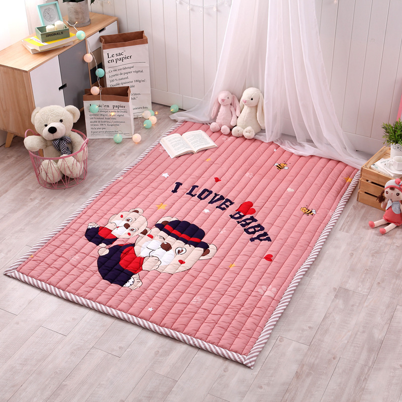 Infant Shining Rectangle Baby Play Mats Four Seasons Cotton Carpet Cartoon Children Bedroom Blanket Living Room Rugs diaidi modern oriental area rug rectangle rug carpet washable soft rugs living room rug carpets for living room rugs and carpets for home living room kitchen rugs