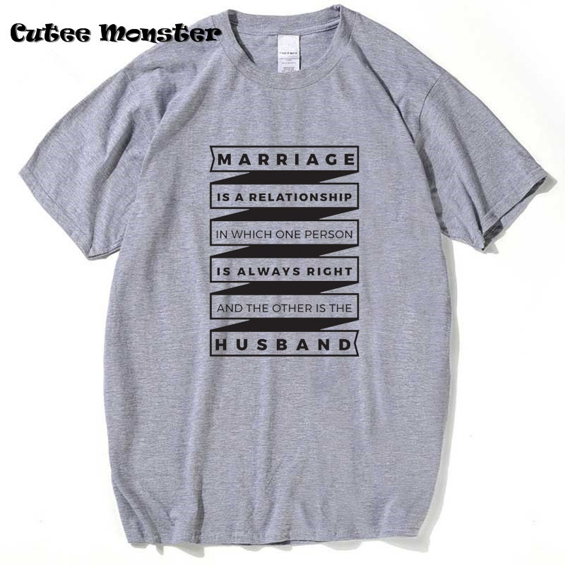 Funny Marriage Saying <font><b>Wife</b></font> is always <font><b>right</b></font> Funny T-Shirt Guns N Roses Hip Hop Letter T shirt Short Sleeve Top Clothing