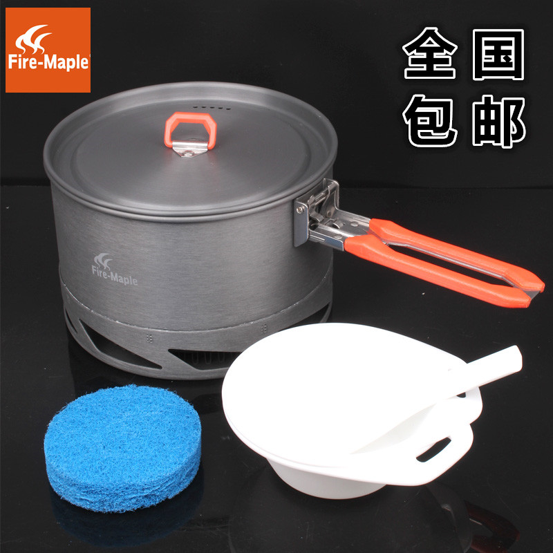 Fire Maple Feast K2 Outdoor Camping Hiking Cookware Backpacking Cooking Picnic fire maple feast 3 outdoor camping hiking cookware backpacking cooking picnic pot pan set foldable handle 2 pots 1 frypan fmc f3