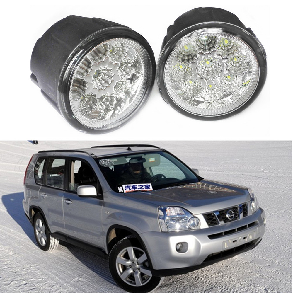 Car styling LED Fog LAMP Lamps  For NISSAN X-Trail T31 Closed Off-Road Vehicle 2007-2014 LIGHTS DRL  Refit   Yellow for nissan x trail t30 2001 2006 car styling led light emitting diodes drl fog lamps