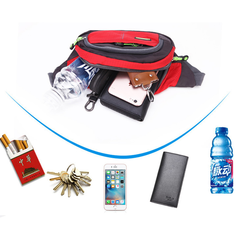 Hot 8 Colors Running Sports Waist Bag Man Woman Travel Running Waist Pack Camping Hiking Sport Waterproof Pack Waist Belt