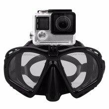 Профессиональная маска для подводного плавания подводное плавание одежда заплыва очки Подводное подводное снаряжение подходит для большинства видов спорта камера