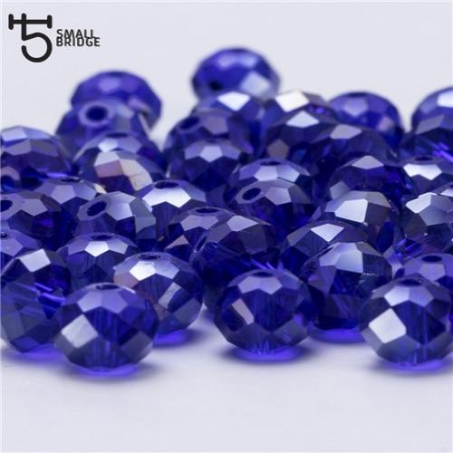 4, 6, 8 мм чешские хрустальные бусины для рукоделия своими руками, цветные граненые стеклянные бусины AB, Z179 - Цвет: Z308AB dark blue