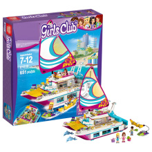 Friends Sunshine Catamaran Grils Building Blocks Bricks Educational DIY Toys Gift Same Model 41317