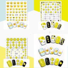 цена на 1 Sheet 3D Nail Art Sticker CA001 Water Transfer Nail Art Sticker 325 CA001-003 Template Decals Tool DIY Nail Decoration Tools