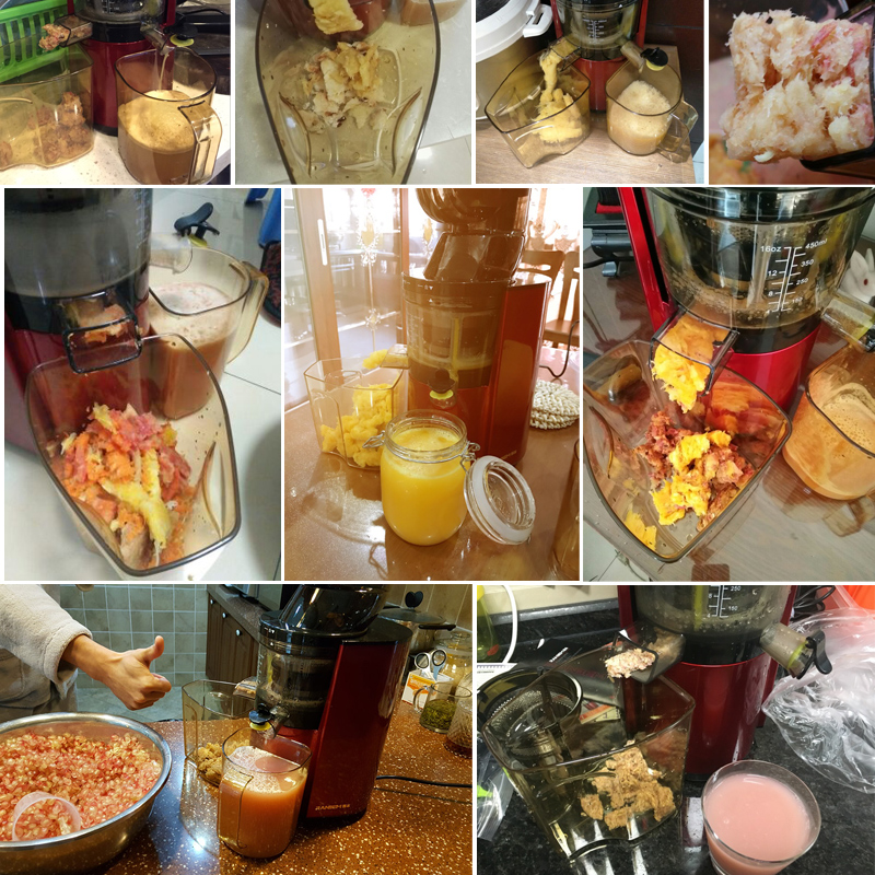 220V 45Rpm Slow Juicer Multifunctional Full-automatic Electric Fruit Juicer Machine With Large Diameter Feed Inlet Auto Cleaning bear 220 v hand held electric blender multifunctional household grinding meat mincing juicer machine