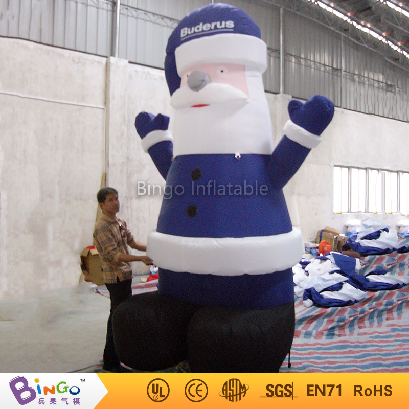 Inflatable Christmas day 3m inflatable blue santa claus christmas gifts/house/trees customized festival toy customized chrismas house inflatable christmas decoration 3 3m