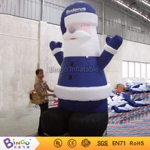 Inflatable Christmas day 3m inflatable blue santa claus christmas gifts/house/trees customized festival toy