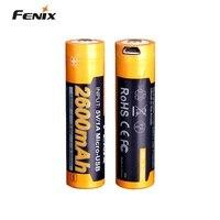 Fenix ARB-L18-2600U Usb Oplaadbare 2600Mah 18650 Oplaadbare Li-Ion Batterij