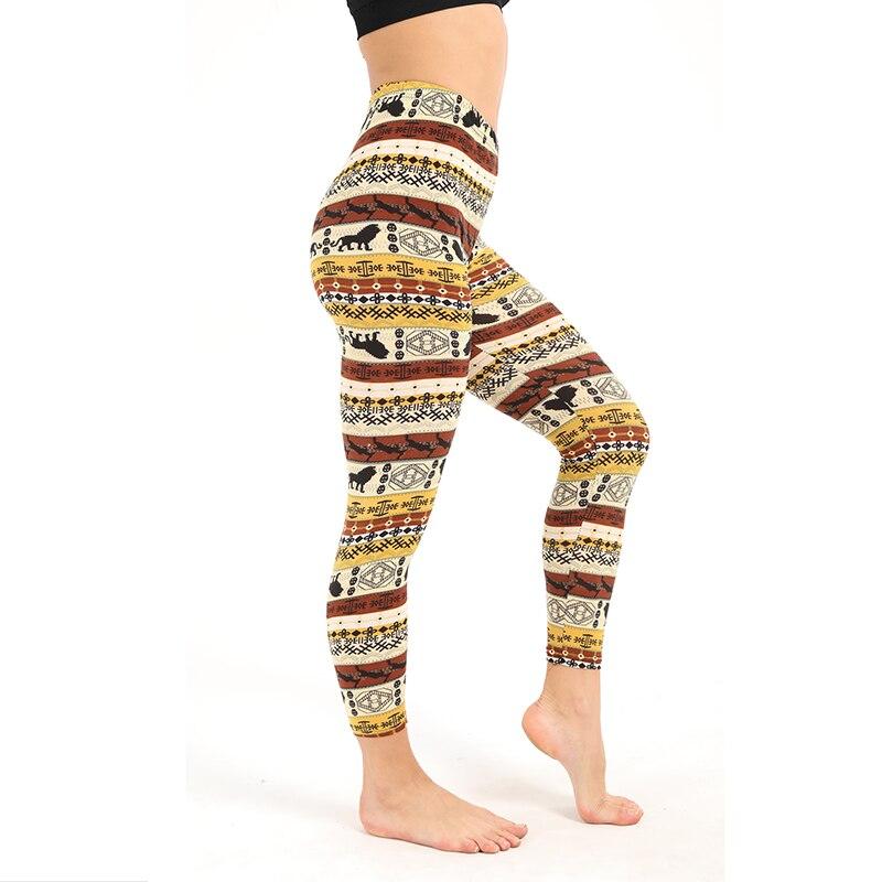 Christmas Women   Legging   Lion Printed High Elasticity Skinny   Leggings   Trousers Printing leggins Woman Pants   Leggings