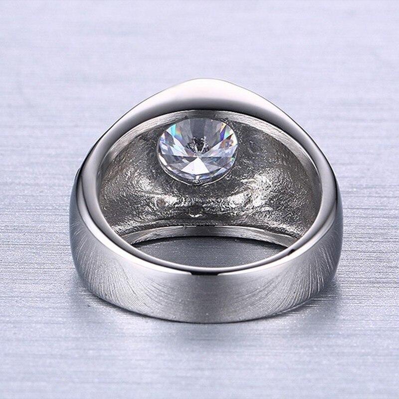 """GOTHIC PUNK RINGS Stainless Steel Men/'s Ring /""""Fluer De Lis/"""" pattern"""