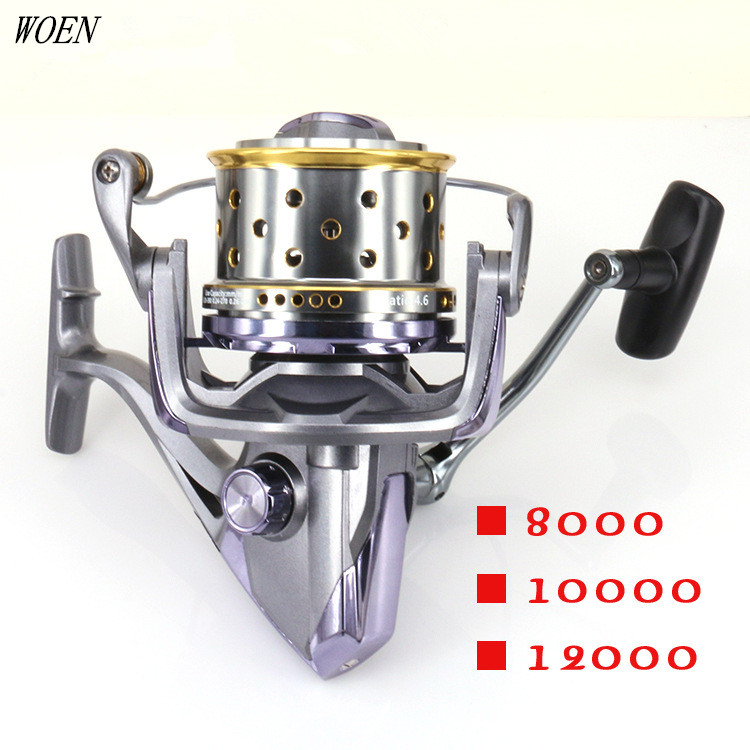 TF8000 / 9000/10000 Full Metal CNC sea Fishing distant wheel 12 + 1 stainless steel bearings Spinning wheel Brake force 20-25KG our distant cousins