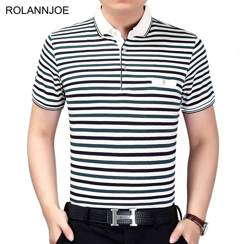a667b7b2 US $15.69 |Chest Pocket Formal Thin Striped Polo Shirts Men Clothes 2018  Short Sleeve Polo Men's Casual Slim fit Cotton Polos Para Hombre-in Polo  from ...