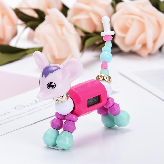 Cartoon Bracelet DIY Charm Dress Quartz Clock Girls Fashion Cat Dog Digital Luxu