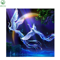 Crystals Embroidery Patchwork Beautiful Wall Decoration Lobby Ornaments Animals Birds Lover Phoenix Diamond Cross Stitch