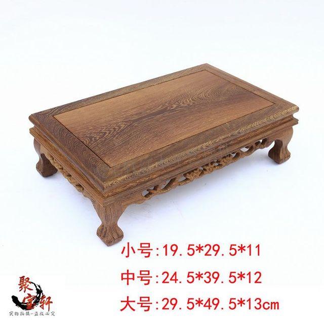 Mobiliário artigos de artesanato de madeira tigre pés Aquário quadrado base de mogno casa agir o papel ofing é provado