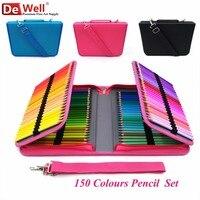 Набор цветных карандашей 150 цветов художника 150 отверстия Держатель корпуса lapis de cor профессиональные масляные цветные карандаши для рисова...