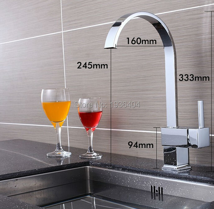 2015 Hot Sale Chrome Finish Kitchen Brass Swivel Mixer Taps Most Popular and Lowest Price Taps