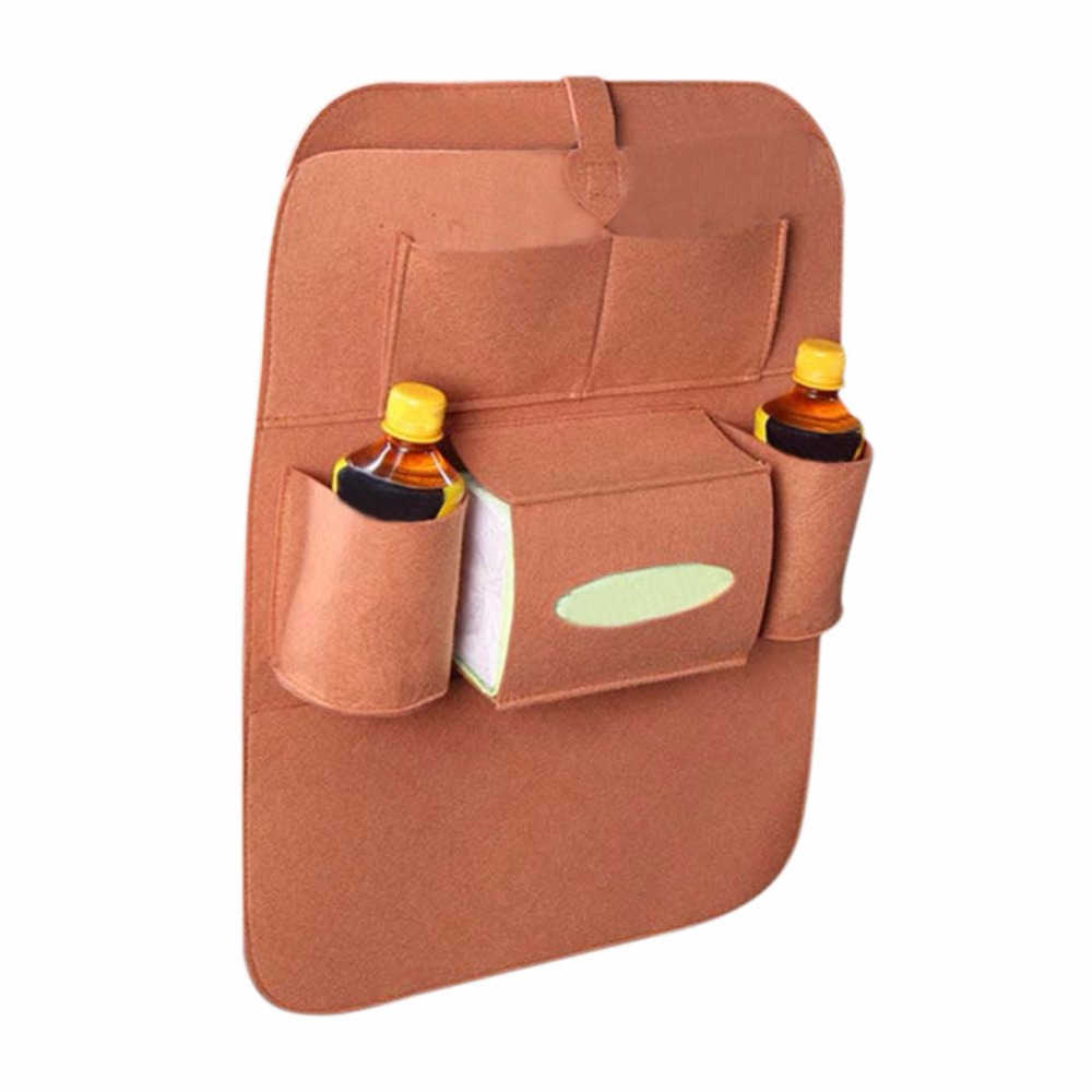 2017 Car Use Seat Back Organizer Storage Bag Drink Food Multifunction Organizador Storage Bags Non-Woven Fabric Eco-Friendly