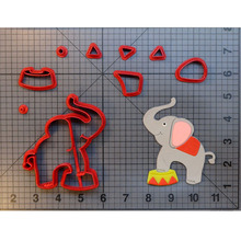 Cute Circus Elephant Cookie Cutter Set Fondant Cupcake Top Mould Made 3D Printed Cookie Cutter Set Cake Mold Biscuit Stamp